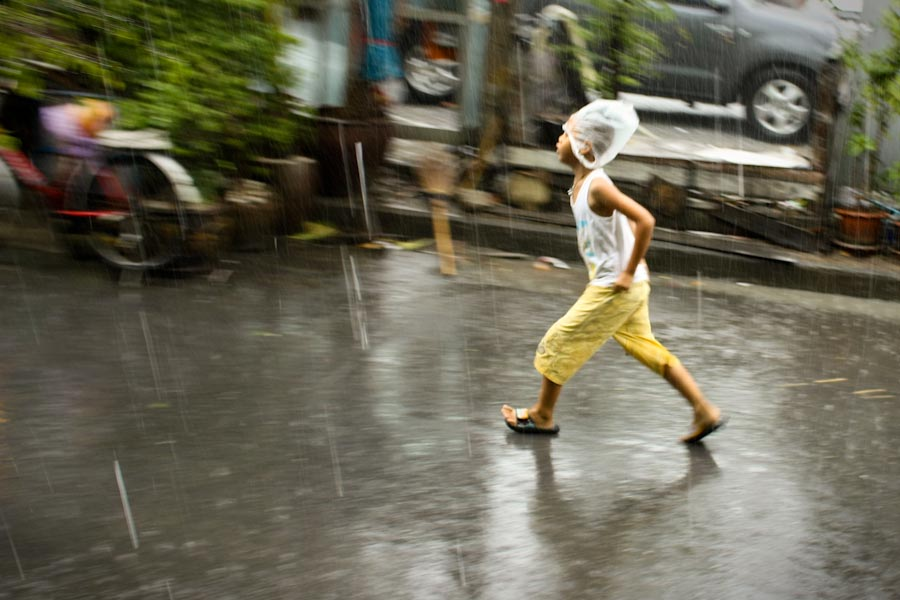 The rain comes to Bangkok