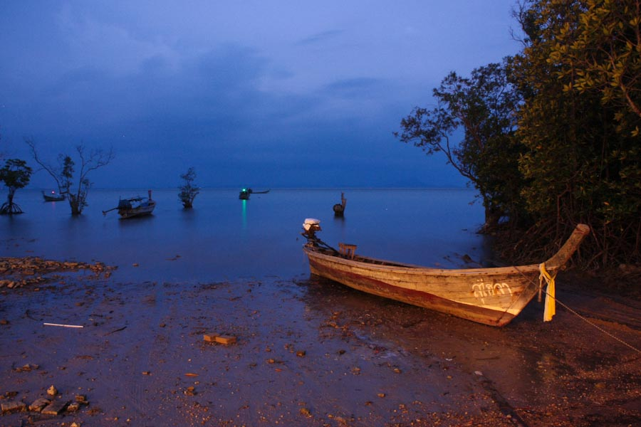 Low tide by moonlight, Railay Beach, Thailand