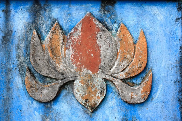 Photo of the Week: Sacred Lotus on a Funerary Shrine