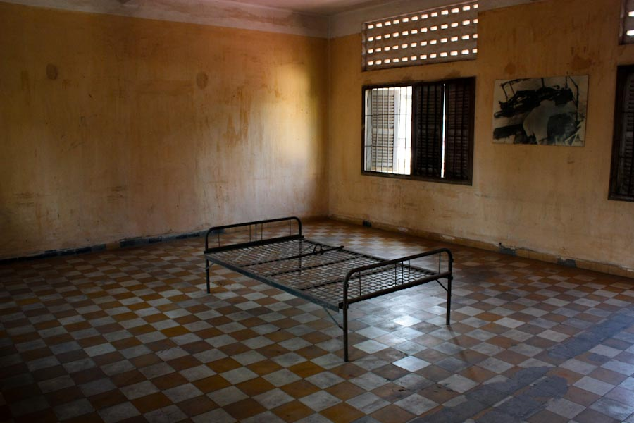 Torture room at the Tuol Sleng Genocide Museum