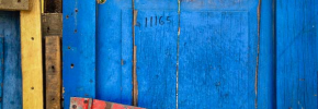 Thumbnail image for Photo: Colorful Weathered Door in Leon, Nicaragua