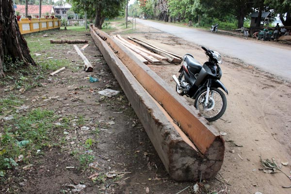Building a canoe for the Water Festival in Phnom Penh