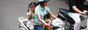 Travel Photos: Babies on Bikes in Hanoi