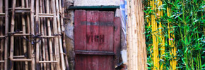 Photo Friday: Hidden Door on Bamboo Street, Hanoi, Vietnam