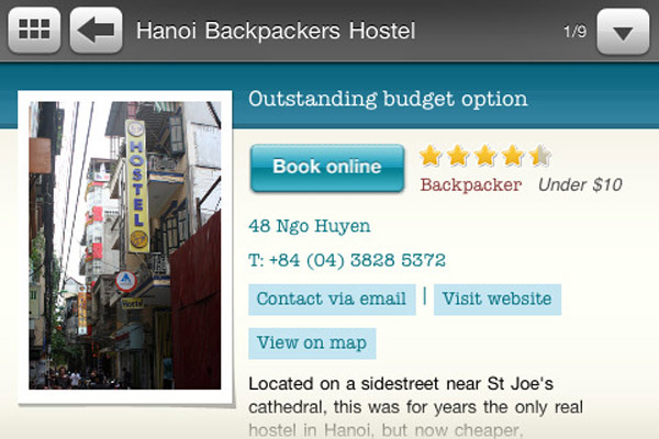 Testing Travelfish's New iPhone Travel Guide in Hanoi