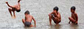 Travel Photo of the Week: Kids Playing in the River