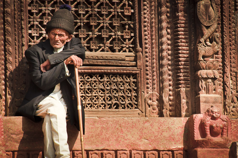 Photo of the Week: An Old Man in Kathmandu, Nepal