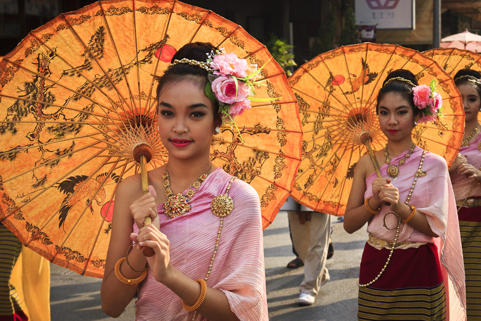 Photo of the Week: Umbrellas at Chiang Mai's Flower Festival