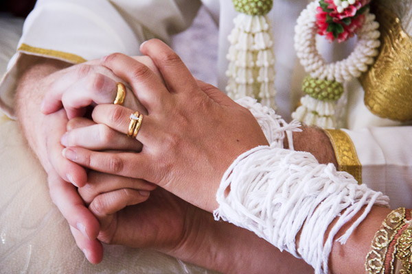 Photo of the Week Holding Hands at a Thai Wedding