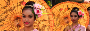 Photo of the Week: Ladies with Umbrellas at Chiang Mai's Flower Festival
